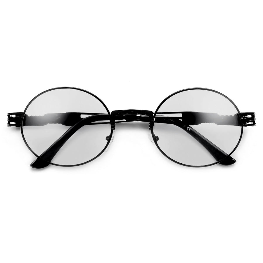 Retro 60's Inspired Clear Oval Eyewear - Sunglass Spot