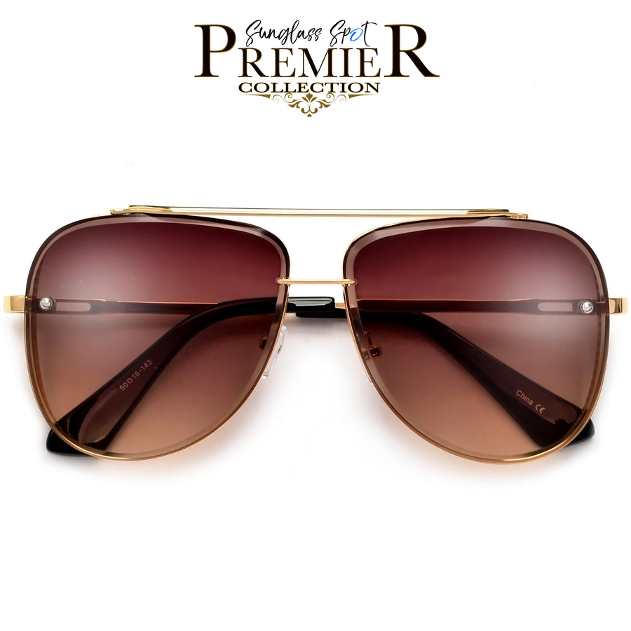 PREMIER COLLECTION-OVERSIZE HIGH QUALITY DETAILED BEVELED AVIATOR