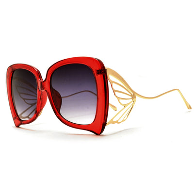 Show Stopping Oversize Butterfly Sculpted Sunnies - Sunglass Spot