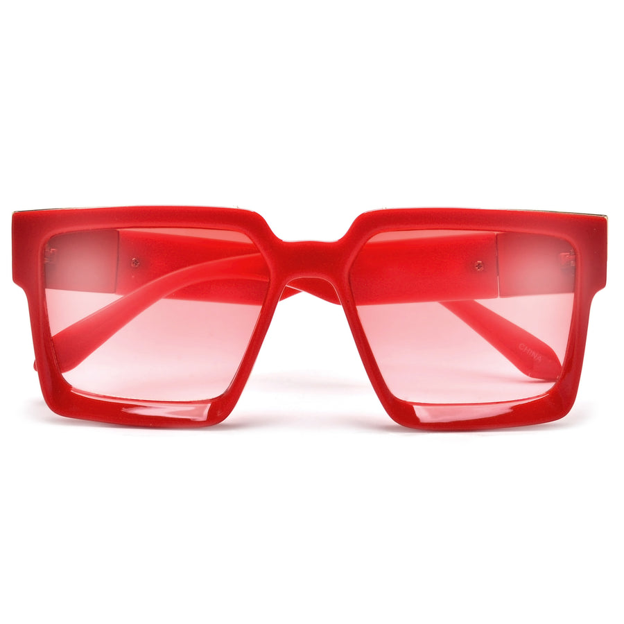 SUMMER BRIGHT BOLD BLOCKY STATEMENT SUNGLASSES - Sunglass Spot