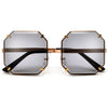 Oversize Rimless Diamond Jewel Silhouette Sunglasses - Sunglass Spot