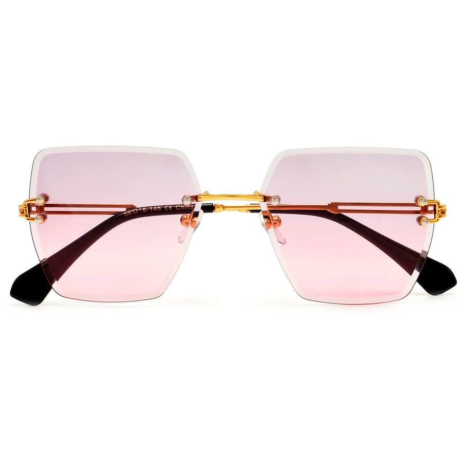 Rimless Designer Inspired Chic Sunnies