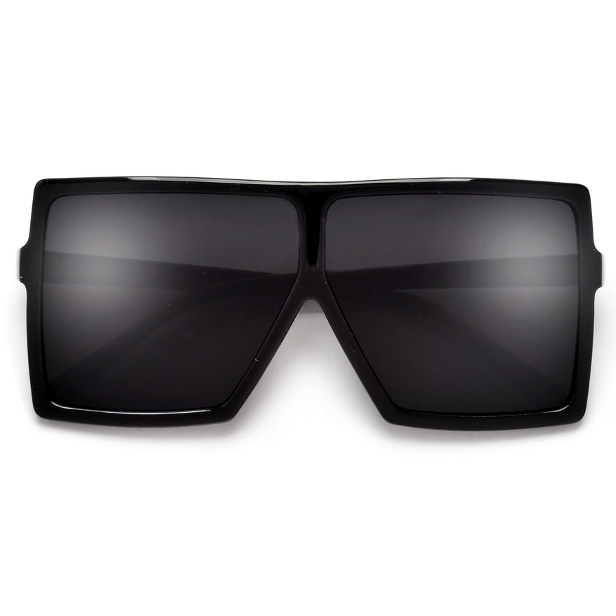 OVERSIZE BOLD SQUARED OFF BLOCK SUNGLASSES