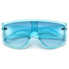 Stylish Modern Appeal Thick Temple Shield Sunglasses