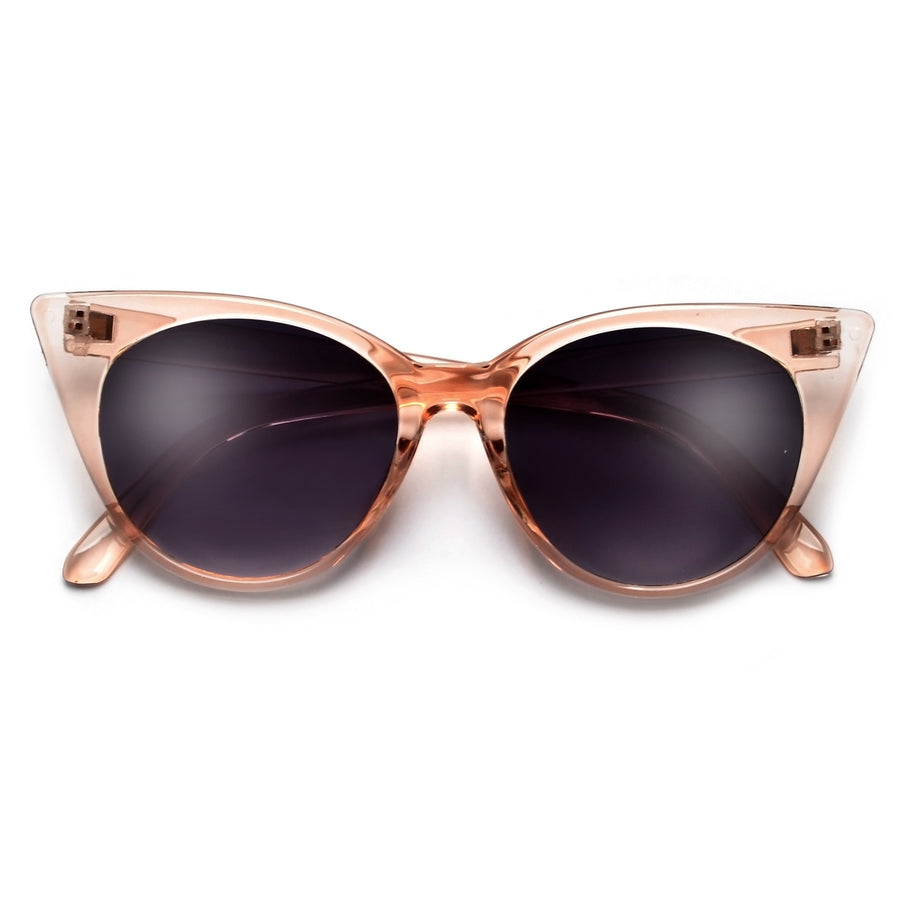 High Pointed Tip Modern Flat Lens Cat Eye Sunnies