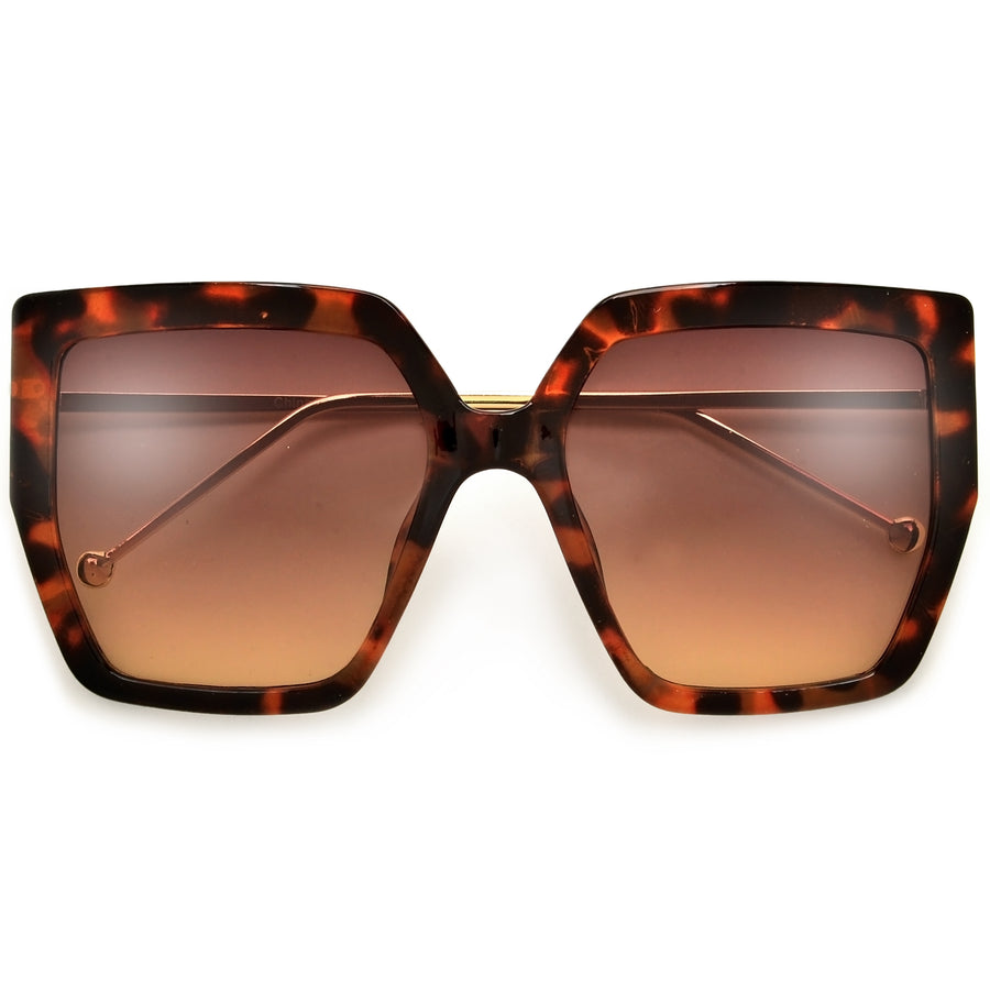Oversize Geometric Bold Statement Making Sunnies