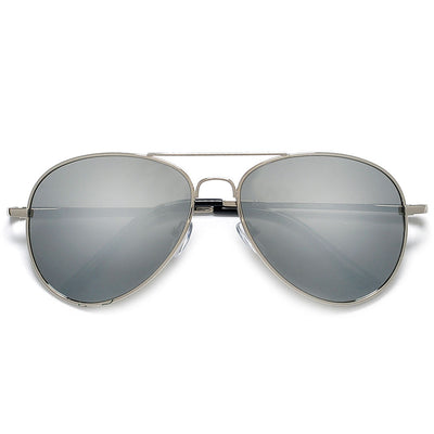 Polarized Classic Aviator with Colorful Reflective Lens Sunglasses - Sunglass Spot