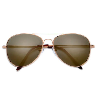 Polarized Classic Aviator with Colorful Reflective Lens Sunglasses