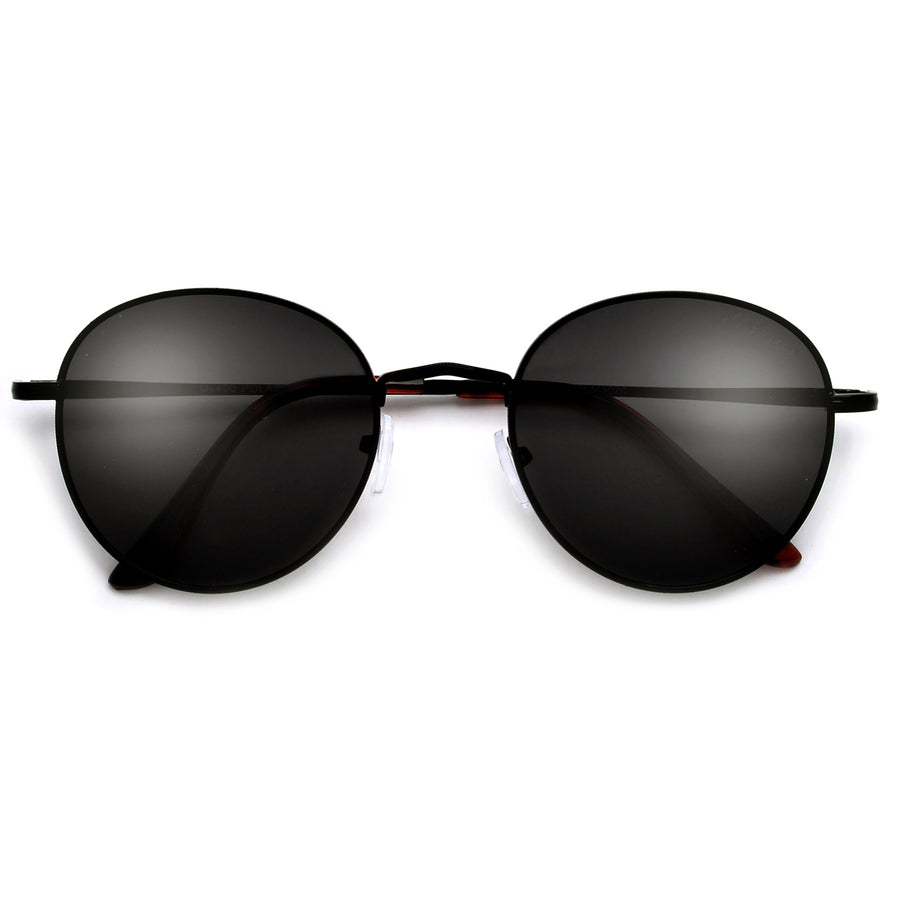 Polarized Anti Glare Iconic Round Sunglasses