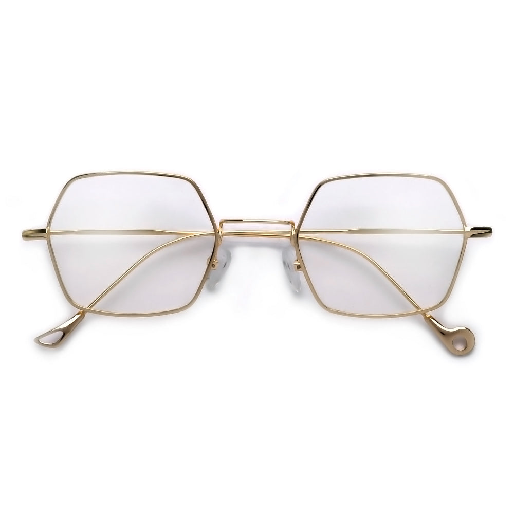 Oversize 70mm Thin Metal Wire Frame Ultra Chic Clear Aviator ...