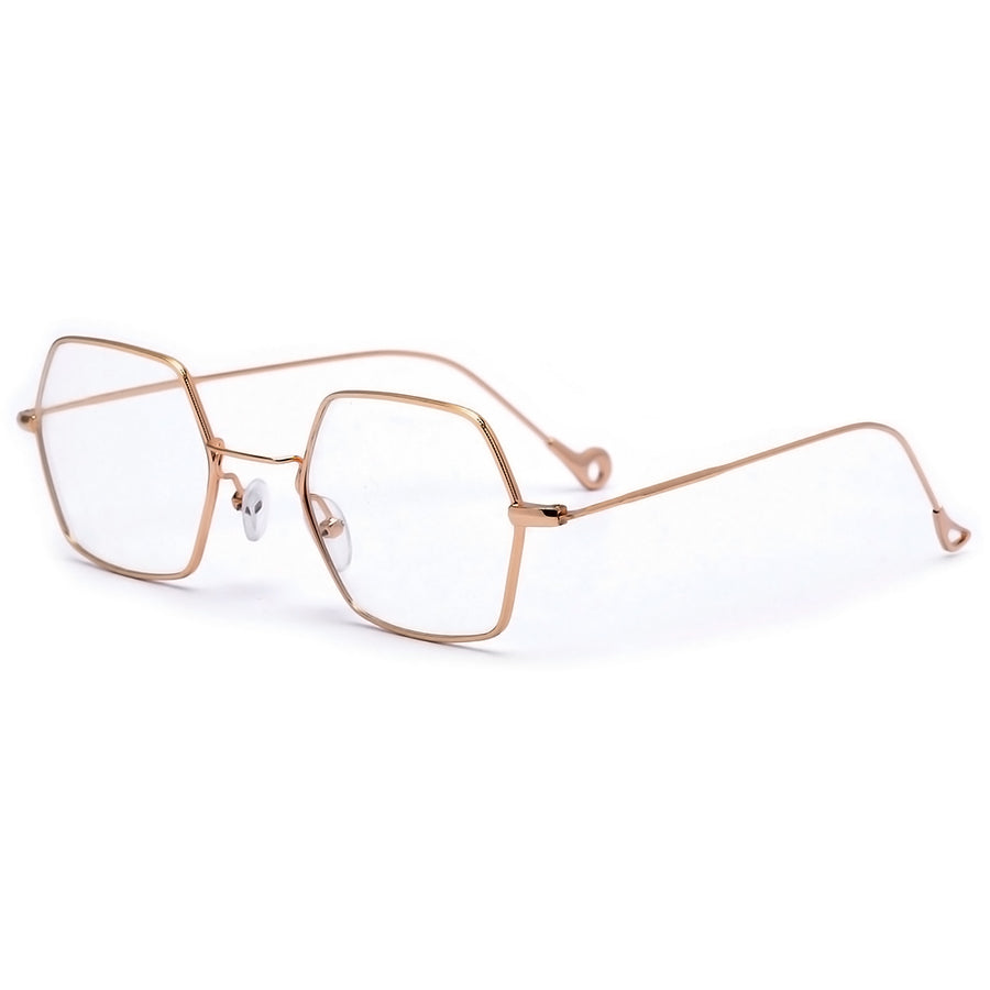 Boho Chic Geometric Thin Lightweight Clear Eyewear - Sunglass Spot