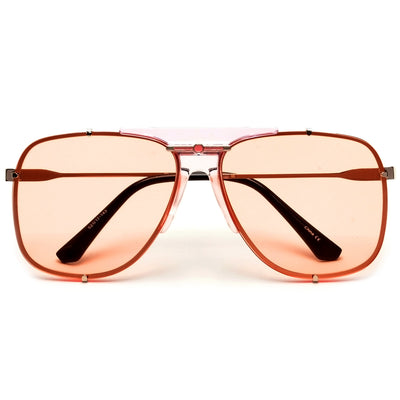 Stylish High Fashion Rimless Aviator Sunglasses - Sunglass Spot