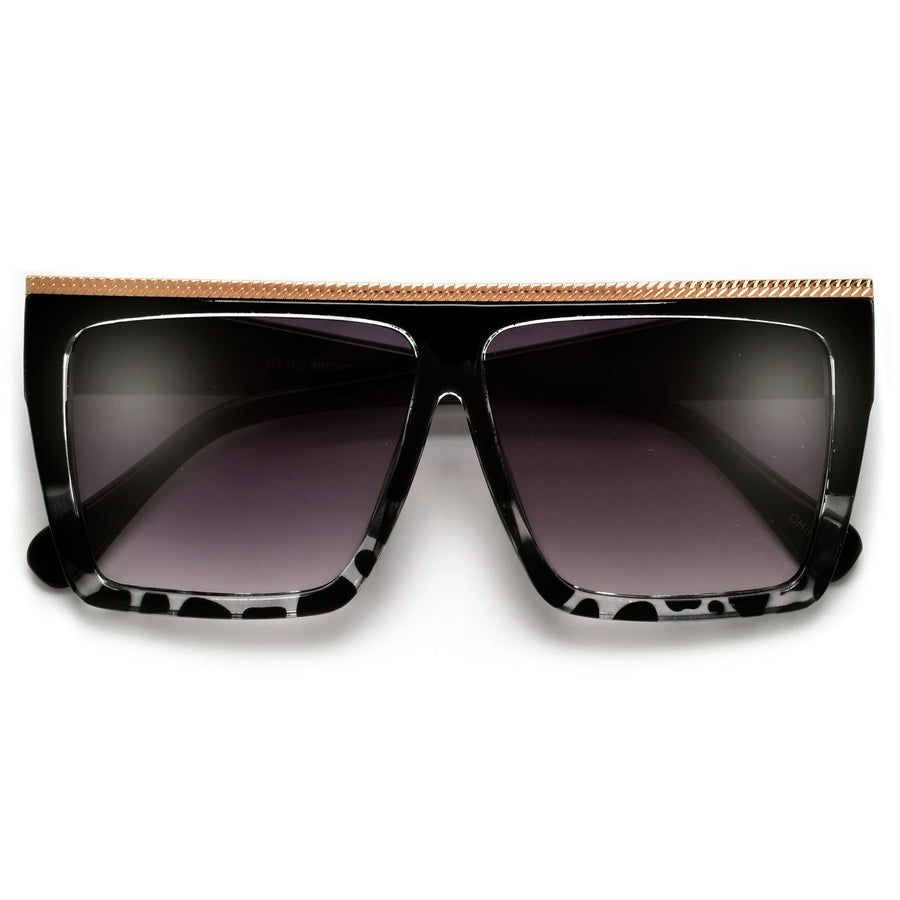 Chain Link Flat Top Glamorous Squared Sunnies