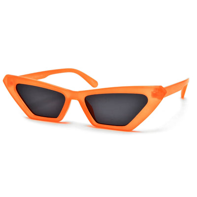 Electric Neon Bright Narrow Cat Eye Sunnies - Sunglass Spot
