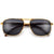 Stylish Wood Temple Rectangular Aviator
