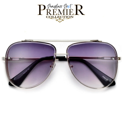 PREMIER COLLECTION-OVERSIZE HIGH QUALITY DETAILED BEVELED AVIATOR - Sunglass Spot