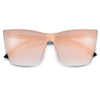 Sleek Modern Flat Lens Cat Eye Sunnies