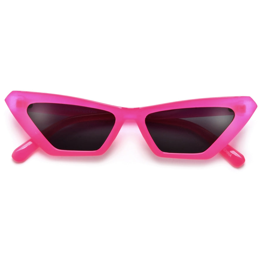 Electric Neon Bright Narrow Cat Eye Sunnies