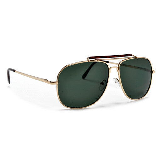 Squared Off Frame Aviator with Outdoorsman Cross Bar Sunglasses