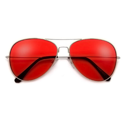 Rock Star Status Classic Colorful Teardrop Aviator - Sunglass Spot