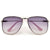 Stylish High Fashion Rimless Aviator Sunglasses