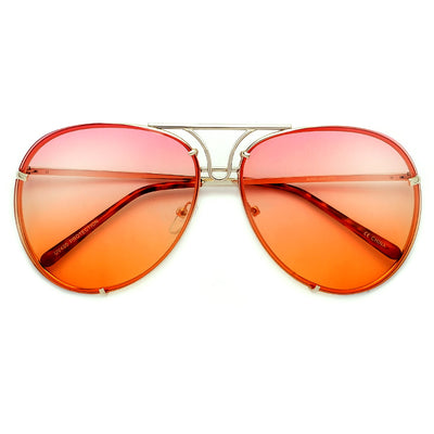 Oversize 67mm High Fashion Designer Inspired Artistry Crafted Aviator Sunglasses - Sunglass Spot