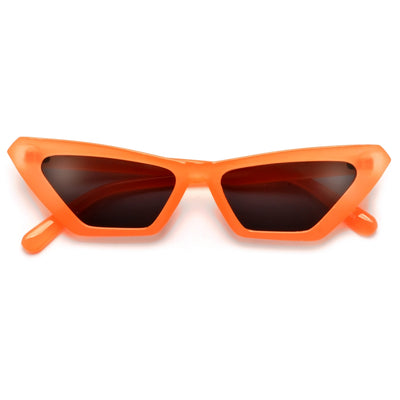 Oversize Open Temple Crystal Decorated Full Coverage Sunglasses