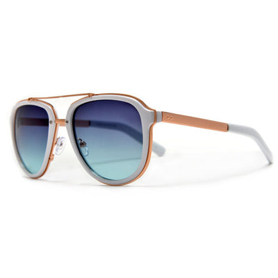 Stylish Attitude Appeal Metal Trim Modernized Aviator Sunglasses - Sunglass Spot