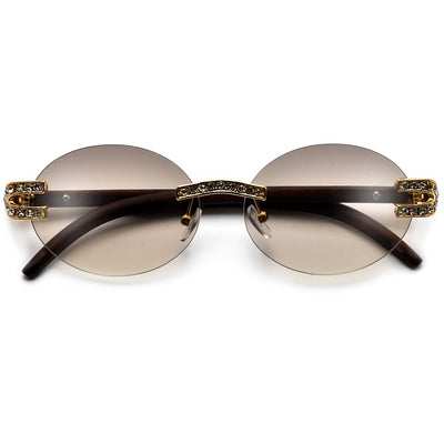 PREMIER BLING BLING COLLECTION-STUNNING CRYSTAL EMBEDDED HORSE SHOE TEMPLE HIGH FASHION SUNNIES