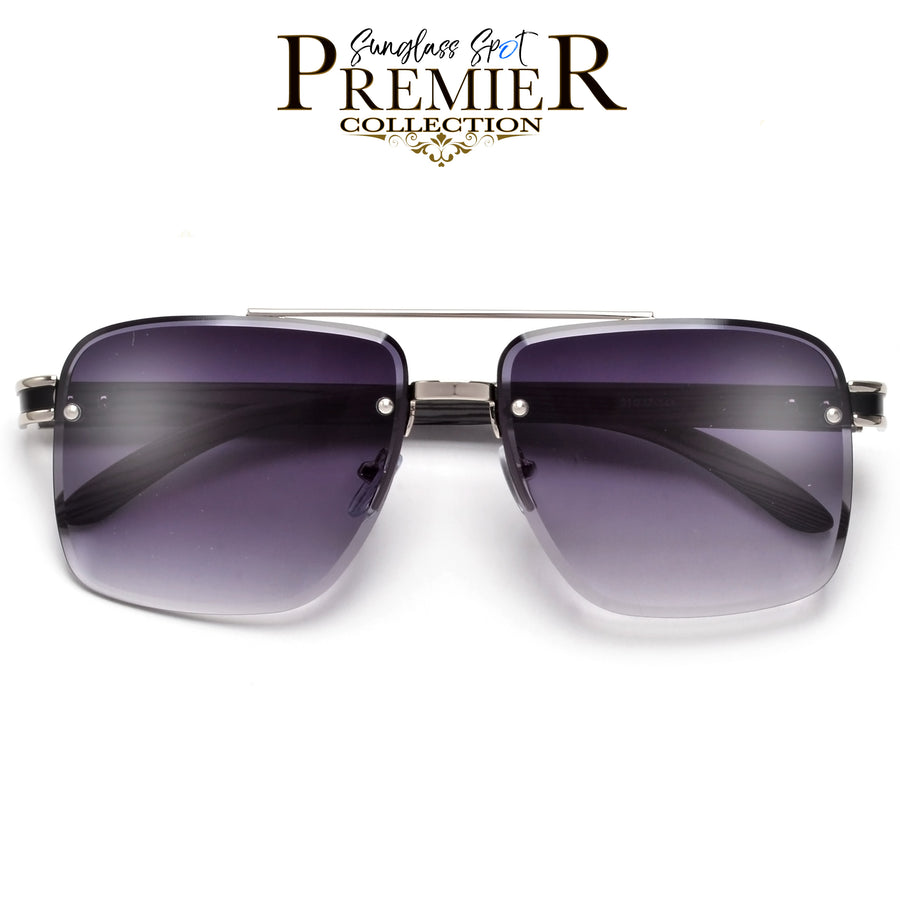 Oversize Crystal Embedded Frame Women's Glam Sunnies