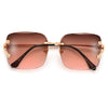 Rimless Open Temple Chic Sunnies