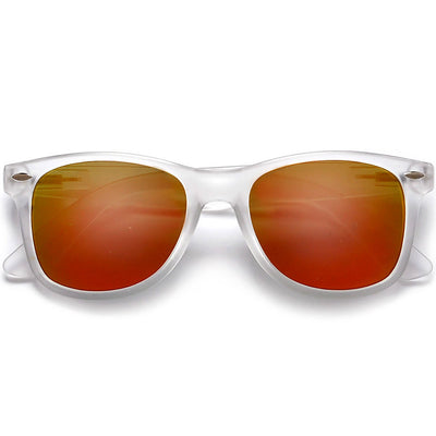 Classic Frost Frame Colorful Revo Lens 80's Sunglasses - Sunglass Spot