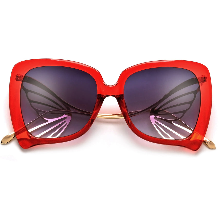 Show Stopping Oversize Butterfly Sculpted Sunnies