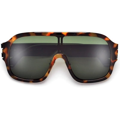 Oversize Full Coverage Shield Sunnies - Sunglass Spot