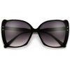 Oversize Studded Cat Eye Silhouette Sunglasses - Sunglass Spot