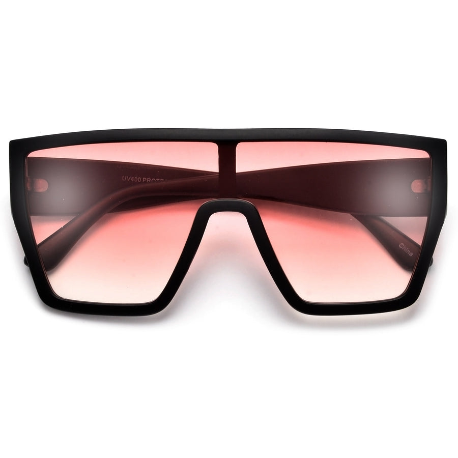 Oversize Bold Audacious Shield Sunglasses