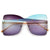 Rimless Multi-Colored Square Cut Out Shield Sunnies