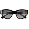Stylish Gold Accent Cat Eye Sunnies - Sunglass Spot