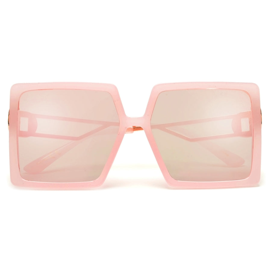 Oversize Bold Full Coverage Square Silhouette Sunnies