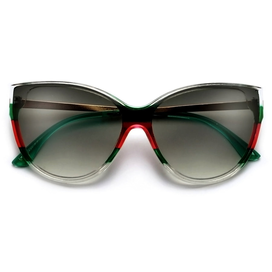 Oversize Modern Appeal Cat Eye Shield Sunnies