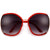Oversize 68mm Half Frame Curvy Butterfly Temple Sunnies