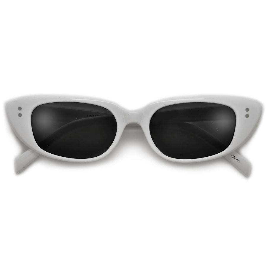 Slim Vintage Cat Eye Sunglasses