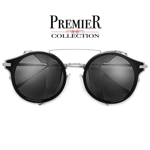 Premier Collection-Shimmering Crystal Stunning Eye Catching Round Eyewear