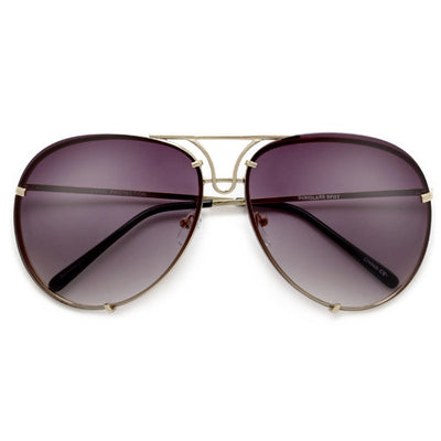 b0ce1459efda Oversize 67mm High Fashion Designer Inspired Artistry Crafted Aviator  Sunglasses