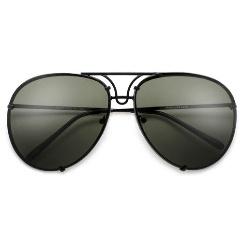 Oversize 67mm High Fashion Designer Inspired Artistry Crafted Aviator Sunglasses