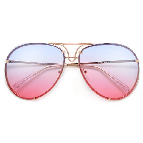 Ultra Modern Geometric Metal Aviator Clear Fashion Eyewear