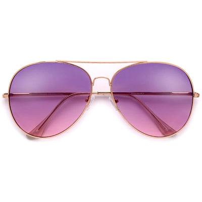 61mm Oversize Stylish Modern Aviator - Sunglass Spot