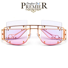 Oversize 57mm Flex Hinge Clear Glasses