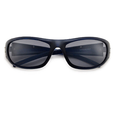 Men's Sleek Brush Metal Side Temple Wrap Around Sunglasses - Sunglass Spot