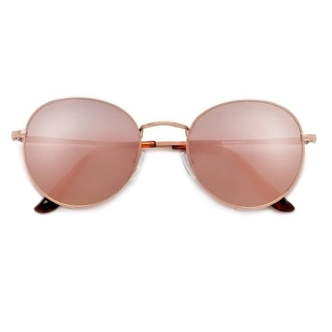 Cat Eye Silhouette Half Frame High Pointed Tip Round Sunnies